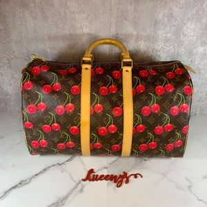 🍒 Louis Vuitton Cherry Keepall 45 Cerises Weekend Monogram Travel bag Murakami